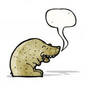 Bear with speech bubble cartoon — Stock Vector