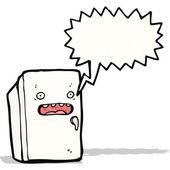 Réfrigérateur de dessin animé — Vecteur