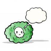 Spooky gas cloud cartoon — Stock Vector