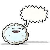 Cartoon cloud with silver lining — Stockvektor
