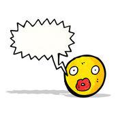 Volto emoticon dei cartoni animati — Vettoriale Stock