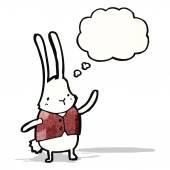 Cartoon white rabbit — Stock Vector