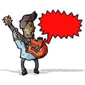 Chitarrista dei cartoni animati — Vettoriale Stock