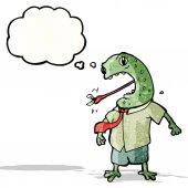 мультфильм жаба — Cтоковый вектор