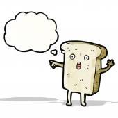 Shocked sliced bread cartoon character — Stockvektor