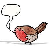 Robin de dessin animé — Vecteur