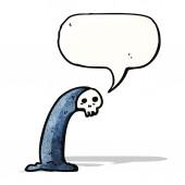 Cartoon spooky skull ghost — Stock Vector