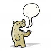Funny bear with speech bubble — Stock Vector