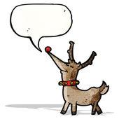 Cartoon happy reindeer — Stock Vector