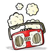 Cartoon retro radio — Vettoriale Stock