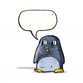 Cartoon retro penguin — Vetorial Stock
