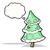 Christmas tree cartoon — Stock Vector