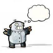 Grasso robot dei cartoni animati — Vettoriale Stock