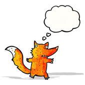 Cartoon fox — Cтоковый вектор