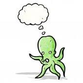 Cartoon octopus — Cтоковый вектор