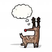 Funny cartoon reindeer — Stock Vector