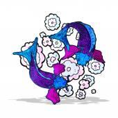 Koi carp tattoo illustration — Διανυσματικό Αρχείο
