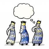 Three kings cartoon — Stock Vector