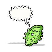 Cartoon germ with speech bubble — Stock Vector