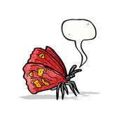 πεταλούδα με κινούμενα σχέδια φούσκα ομιλία — Διανυσματικό Αρχείο