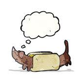 Cartoon hotdog — Stock Vector
