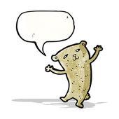 Dancing bear cartoon — Stock Vector