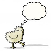 Cartoon chick  (raster version) — ストックベクタ
