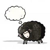 漫画黒羊 — ストックベクタ