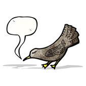 Pássaro preto cartoon — Vetorial Stock