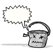 Cartoon broken old bucket — Διανυσματικό Αρχείο