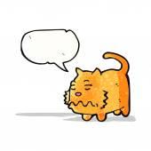 Nauseous cartoon cat — Cтоковый вектор