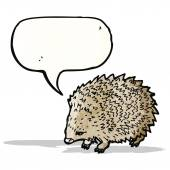 Hedgehog with speech bubble illustration — Stock Vector