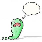 Cartoon green cloud ghost — Vettoriale Stock