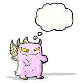 Cartoon lilla monster — Stockvektor