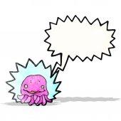 Medusa rosa fumetto — Vettoriale Stock