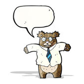 Cartoon boss bear — Stock Vector