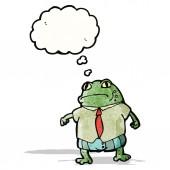 Cartoon toad boss — ストックベクタ
