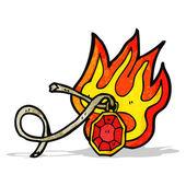 Gemma fiammeggiante dei cartoni animati — Vettoriale Stock