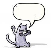 Cartoon angry cat — Stock Vector