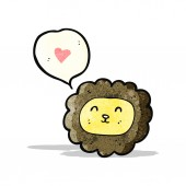 Cartoon lion face (raster version) — ストックベクタ