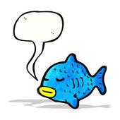 Dessin animé poisson — Vecteur