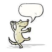 Cartoon dancing dog — Stock Vector