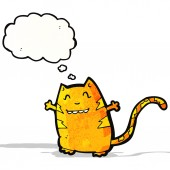 Karikatür kedi — Stok Vektör