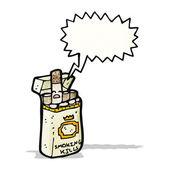 Cigarette packet cartoon — Stock Vector