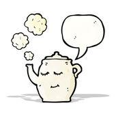 Karikatür çaydanlık — Stok Vektör