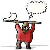 Cartoon man protesting — ストックベクタ