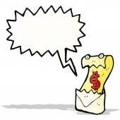 Cartoon shouting bill letter — Vetorial Stock