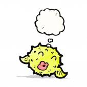 Puffer vis cartoon — Stockvector