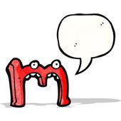 Cartoon letra m — Vetorial Stock