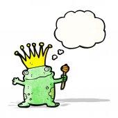 Frog prince cartoon — Stock Vector